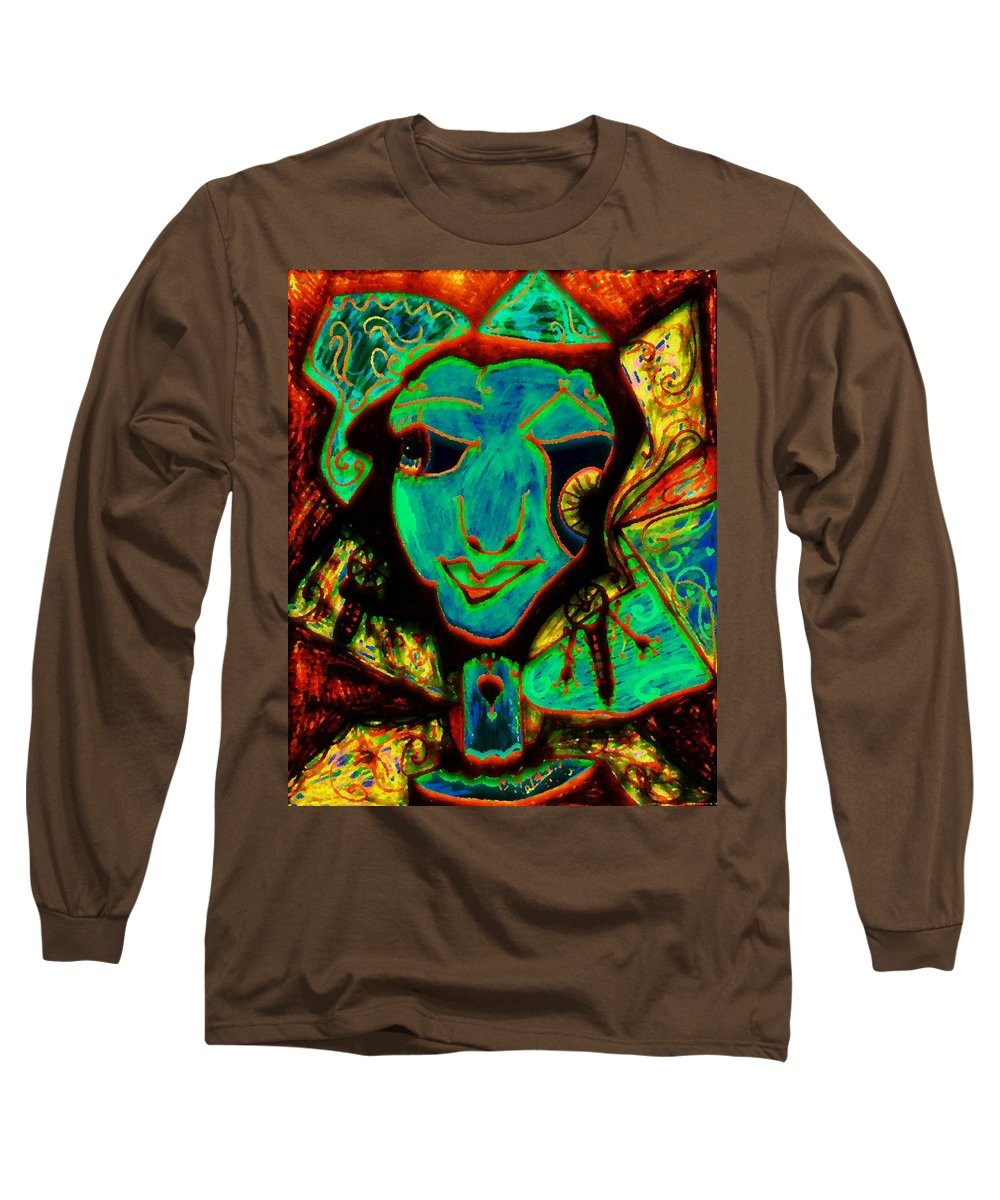 Fantasy Long Sleeve T-Shirt featuring the painting Self Portrait by Natalie Holland