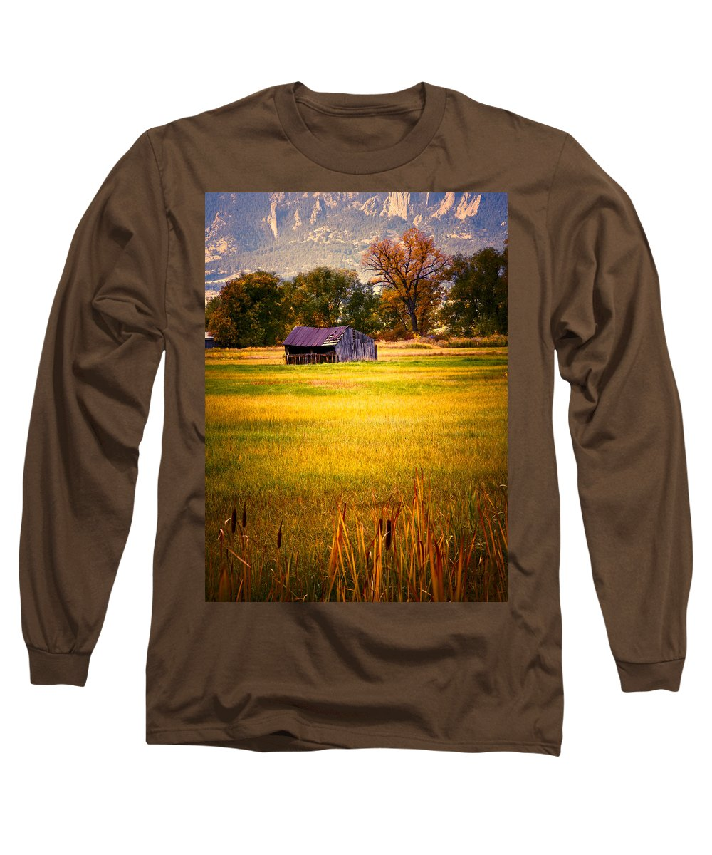 Shed Long Sleeve T-Shirt featuring the photograph Shed In Sunlight by Marilyn Hunt
