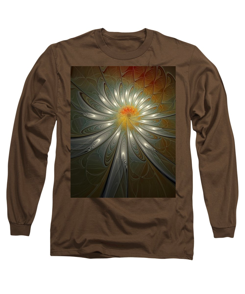 Digital Art Long Sleeve T-Shirt featuring the digital art Shimmer by Amanda Moore