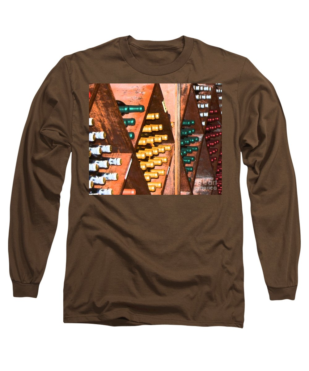 Wine Long Sleeve T-Shirt featuring the photograph Sideways by Debbi Granruth