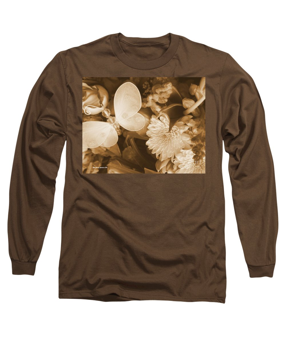 Photography Enhanced Long Sleeve T-Shirt featuring the photograph Silent Transformation Of Existence by Shelley Jones