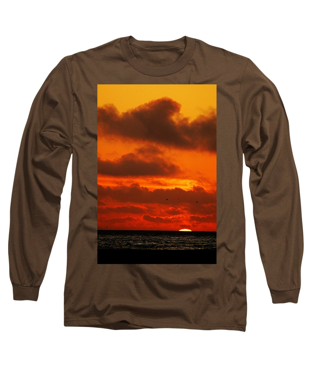 Clay Long Sleeve T-Shirt featuring the photograph Socal Sunset by Clayton Bruster