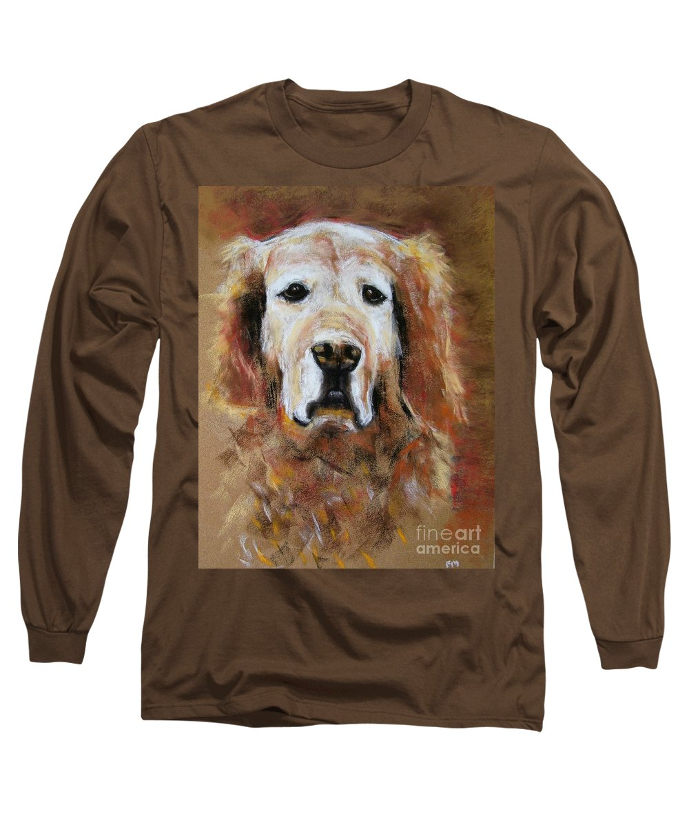 Golden Long Sleeve T-Shirt featuring the painting Sonny by Frances Marino