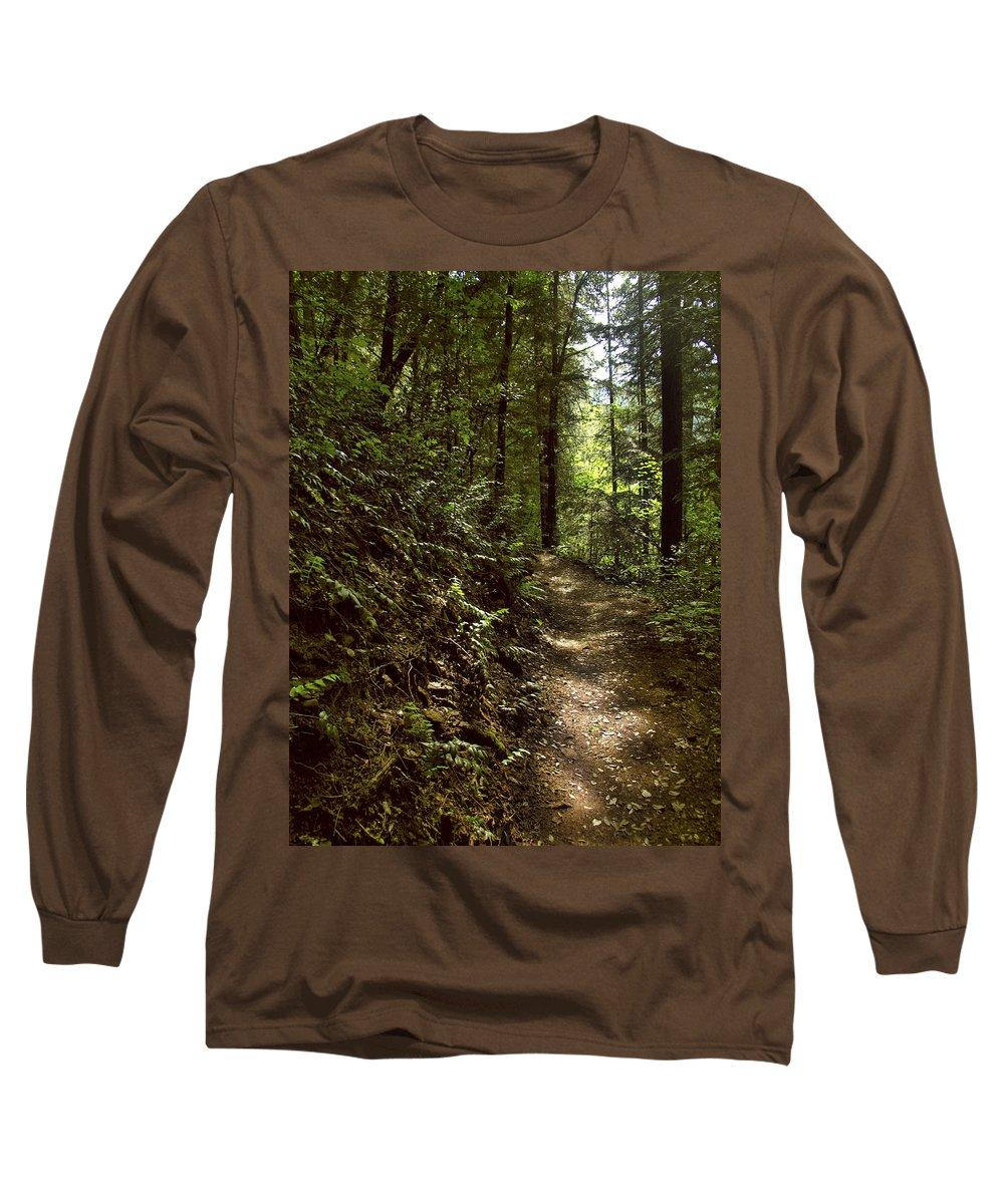 Landscape Long Sleeve T-Shirt featuring the photograph Spirit Of The Wood by Karen W Meyer