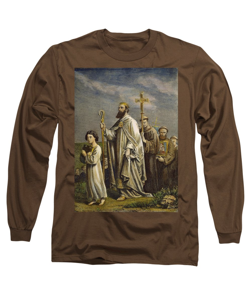 5th Century Long Sleeve T-Shirt featuring the photograph St. Patrick (389?-?461) by Granger