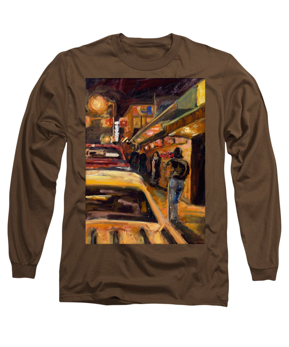Rob Reeves Long Sleeve T-Shirt featuring the painting Steb's Amusements by Robert Reeves