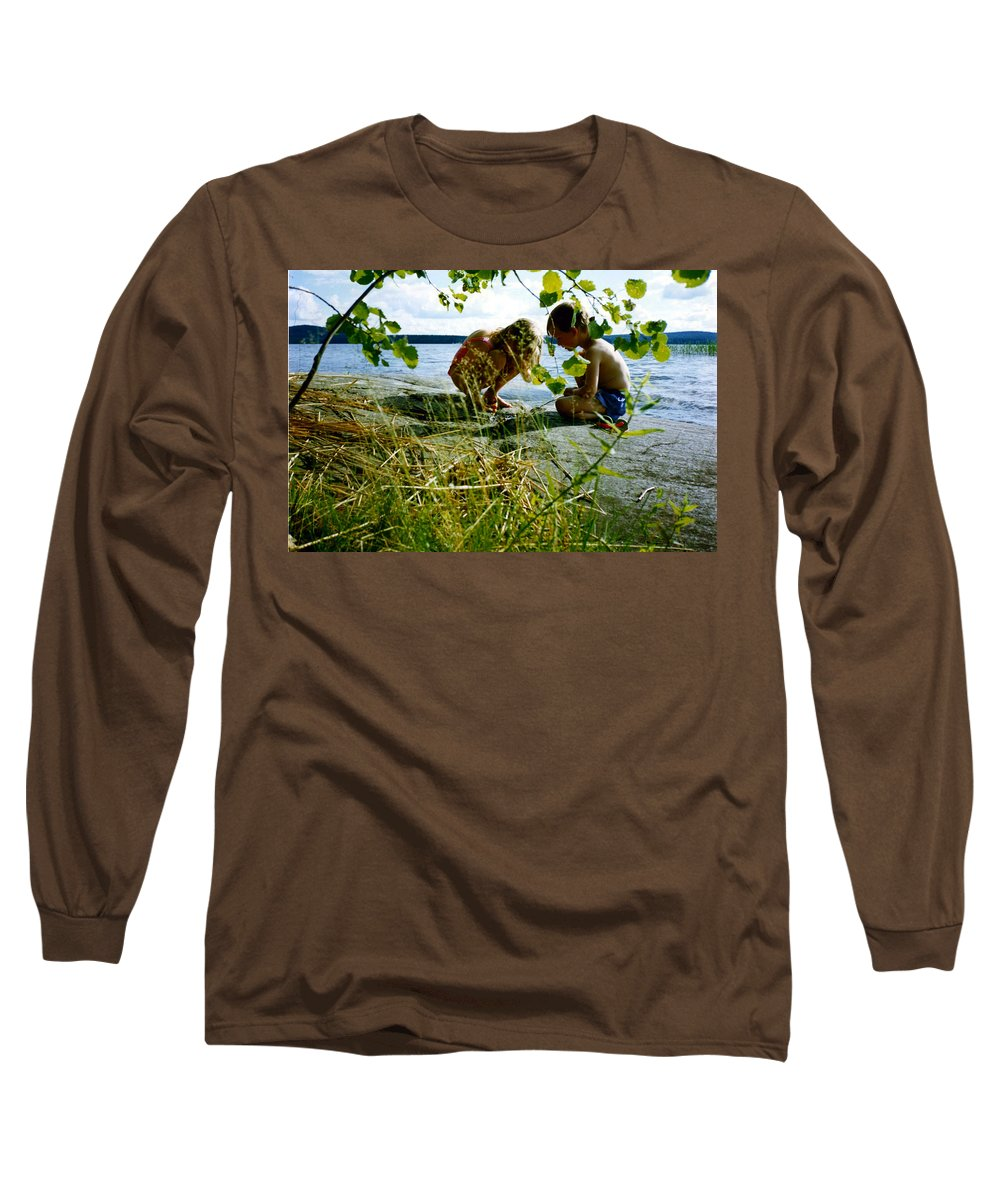 Kids Long Sleeve T-Shirt featuring the photograph Summer Fun In Finland by Merja Waters