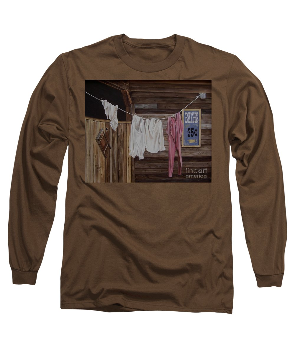Art Long Sleeve T-Shirt featuring the painting Sun Dried by Mary Rogers