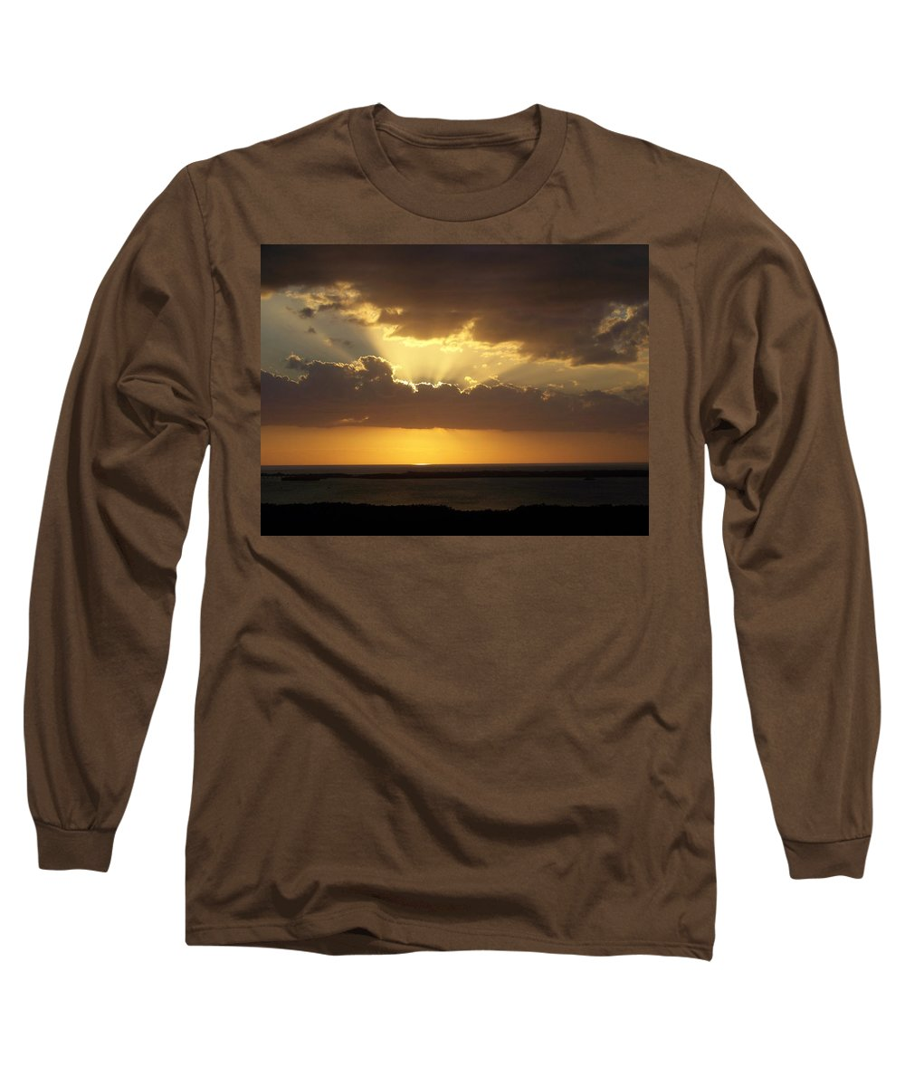 Sunset Long Sleeve T-Shirt featuring the photograph Sunset 0024 by Laurie Paci