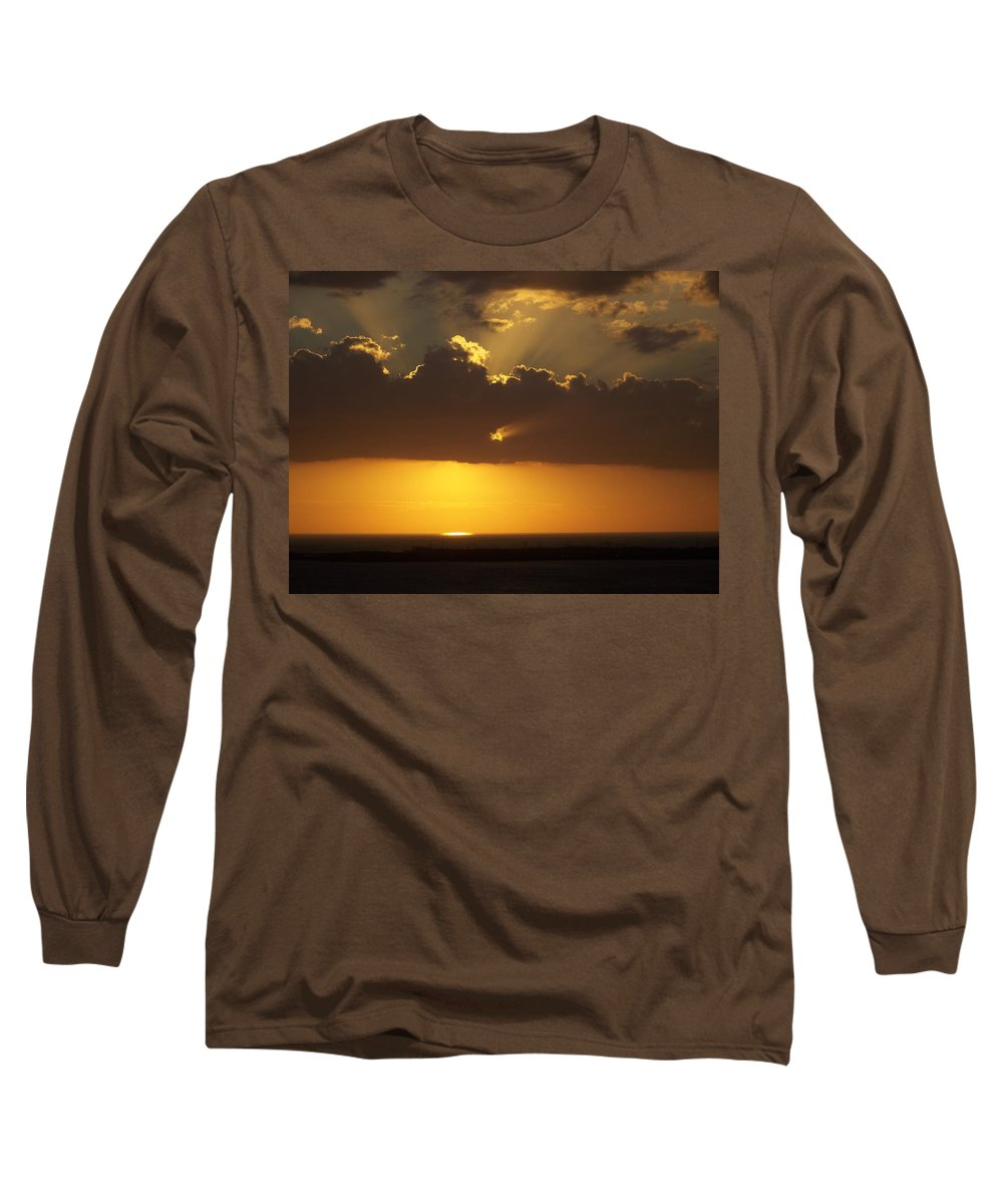Sunset Long Sleeve T-Shirt featuring the photograph Sunset 0025 by Laurie Paci