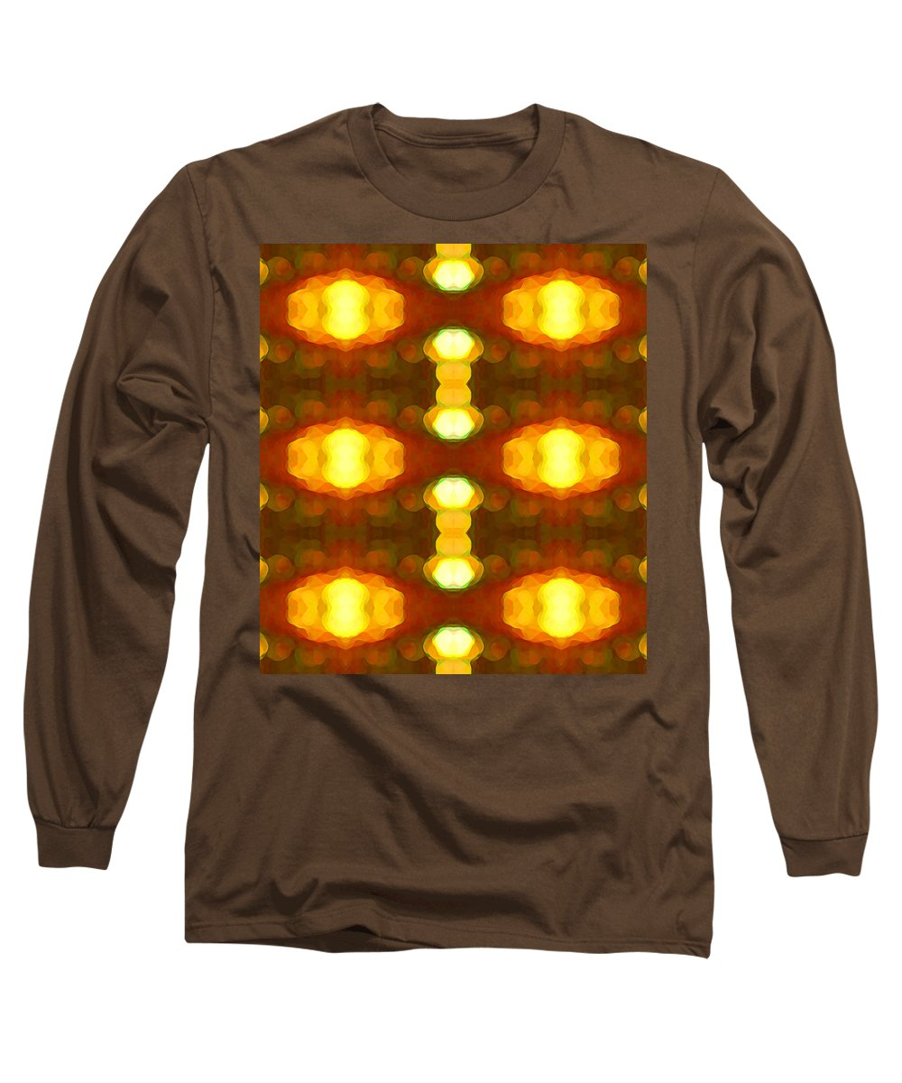 Abstract Painting Long Sleeve T-Shirt featuring the digital art Sunset Glow 1 by Amy Vangsgard