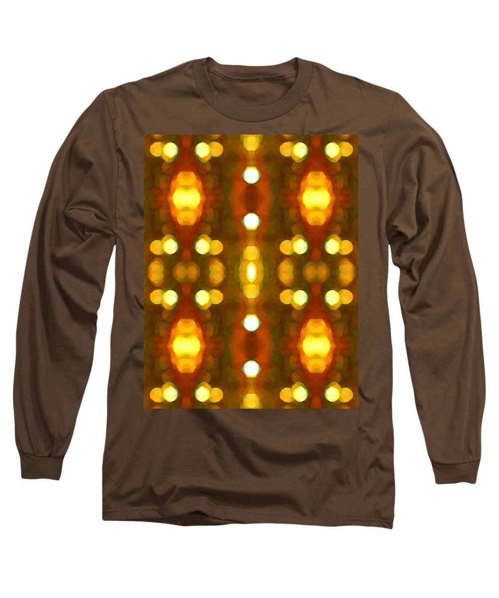 Abstract Long Sleeve T-Shirt featuring the painting Sunset Glow 2 by Amy Vangsgard