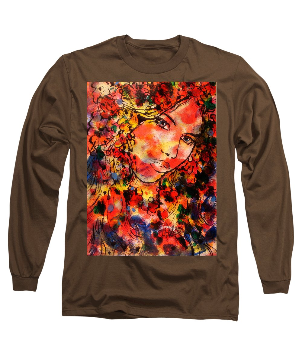 Impressionism Long Sleeve T-Shirt featuring the painting Sweetheart by Leonard Holland
