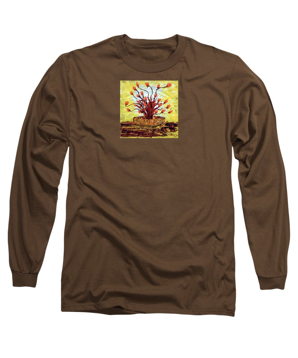Impressionist Painting Long Sleeve T-Shirt featuring the painting The Burning Bush by J R Seymour