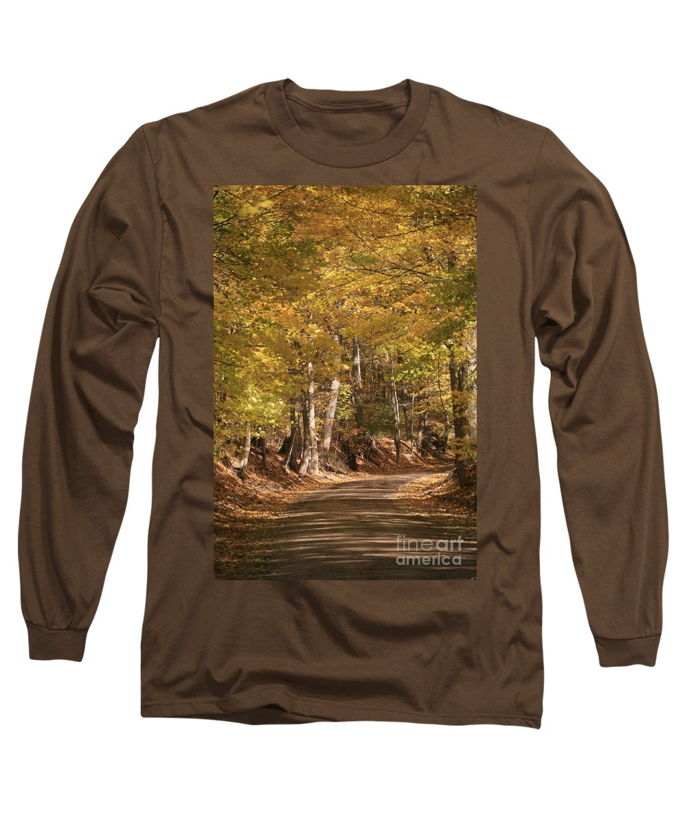 Golden Long Sleeve T-Shirt featuring the photograph The Golden Road by Robert Pearson