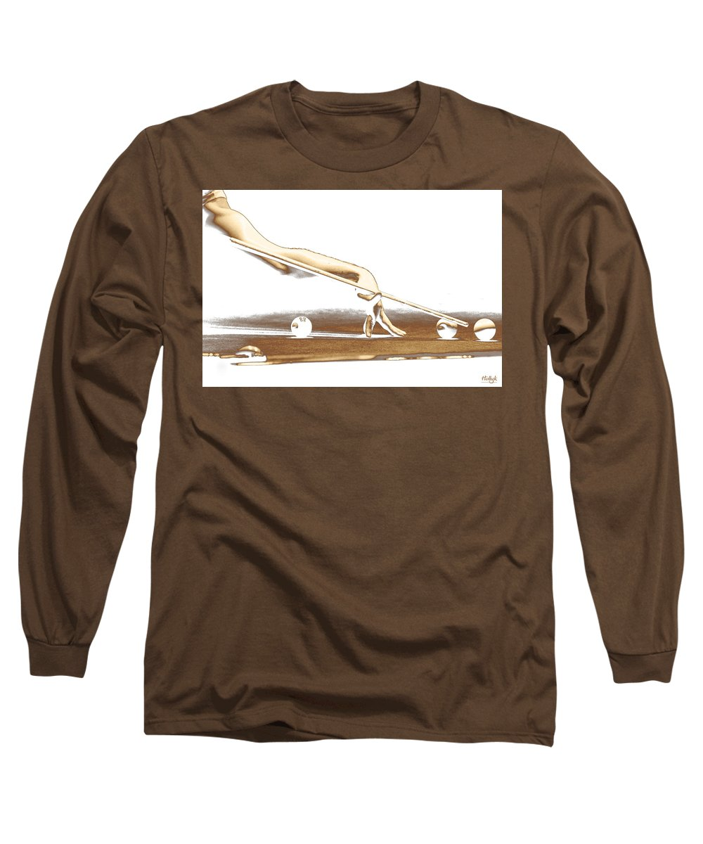 Abstract Long Sleeve T-Shirt featuring the photograph The Hustler by Holly Kempe