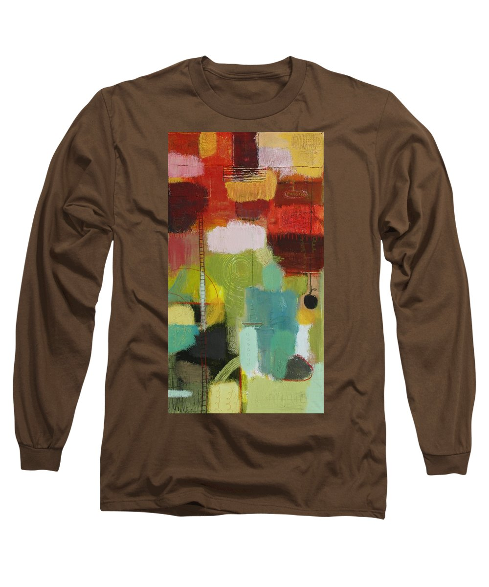 Abstract Long Sleeve T-Shirt featuring the painting The Ladder Of Life by Habib Ayat