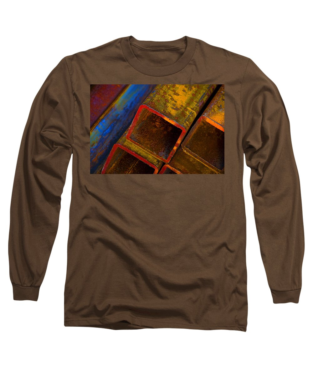 Abstract Long Sleeve T-Shirt featuring the photograph The River by Skip Hunt