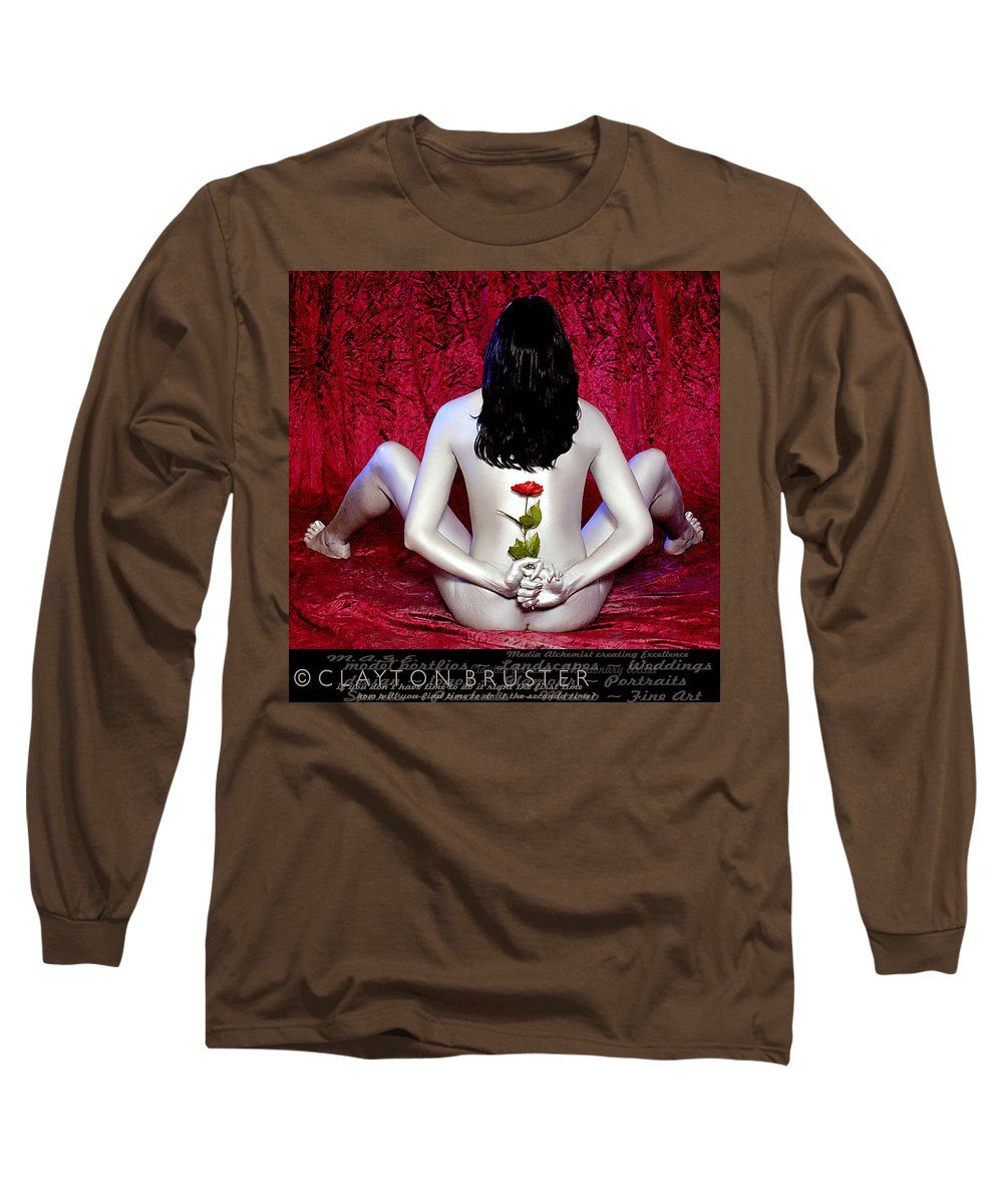 Clay Long Sleeve T-Shirt featuring the photograph The Rose by Clayton Bruster