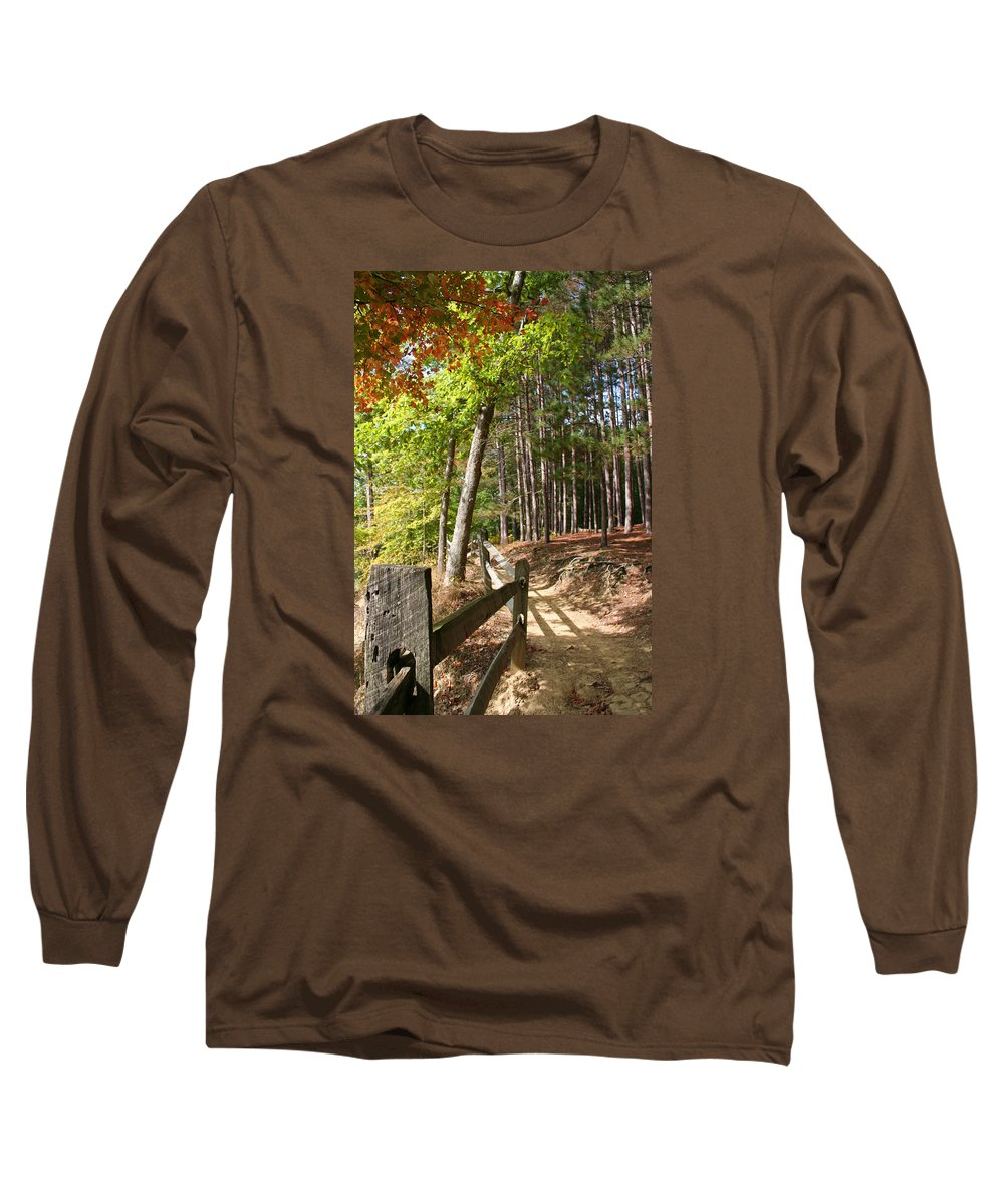 Tree Long Sleeve T-Shirt featuring the photograph Tree Trail by Margie Wildblood