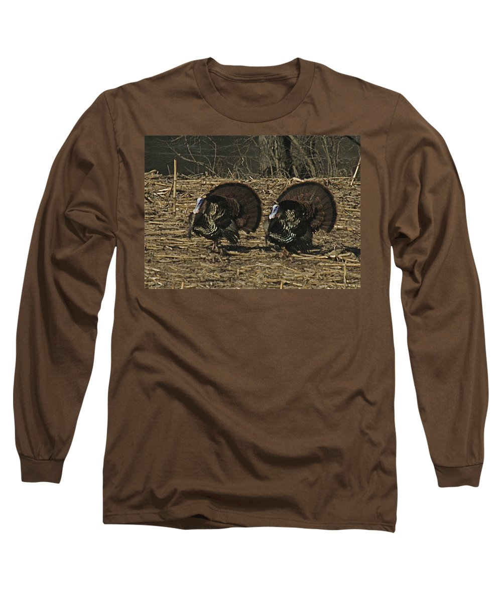 Turkey Long Sleeve T-Shirt featuring the photograph Turkeystrutin by Robert Pearson