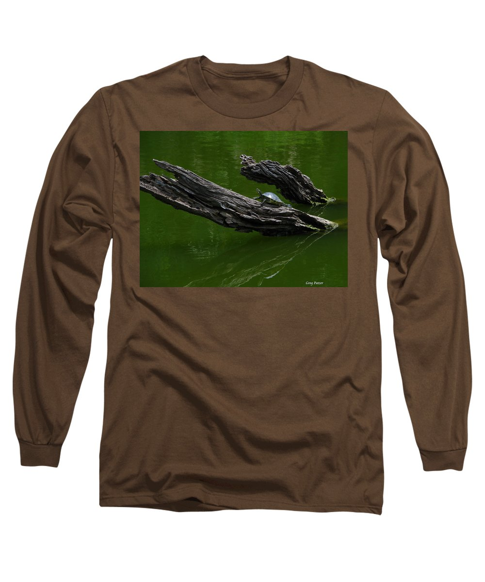 Art For The Wall...patzer Photography Long Sleeve T-Shirt featuring the photograph Turtle Art by Greg Patzer