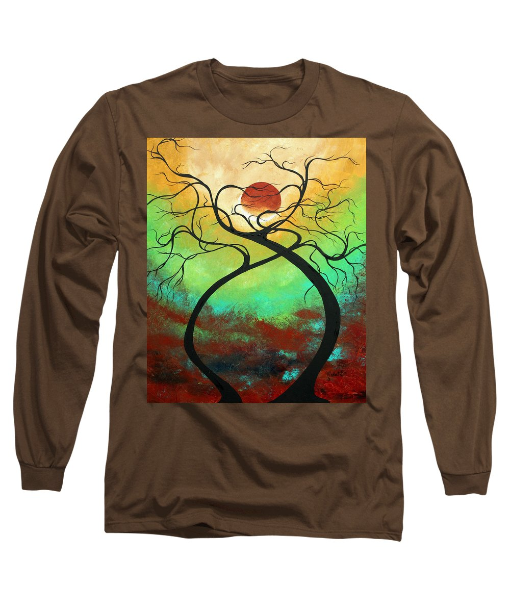 Landscape Long Sleeve T-Shirt featuring the painting Twisting Love II Original Painting By Madart by Megan Duncanson