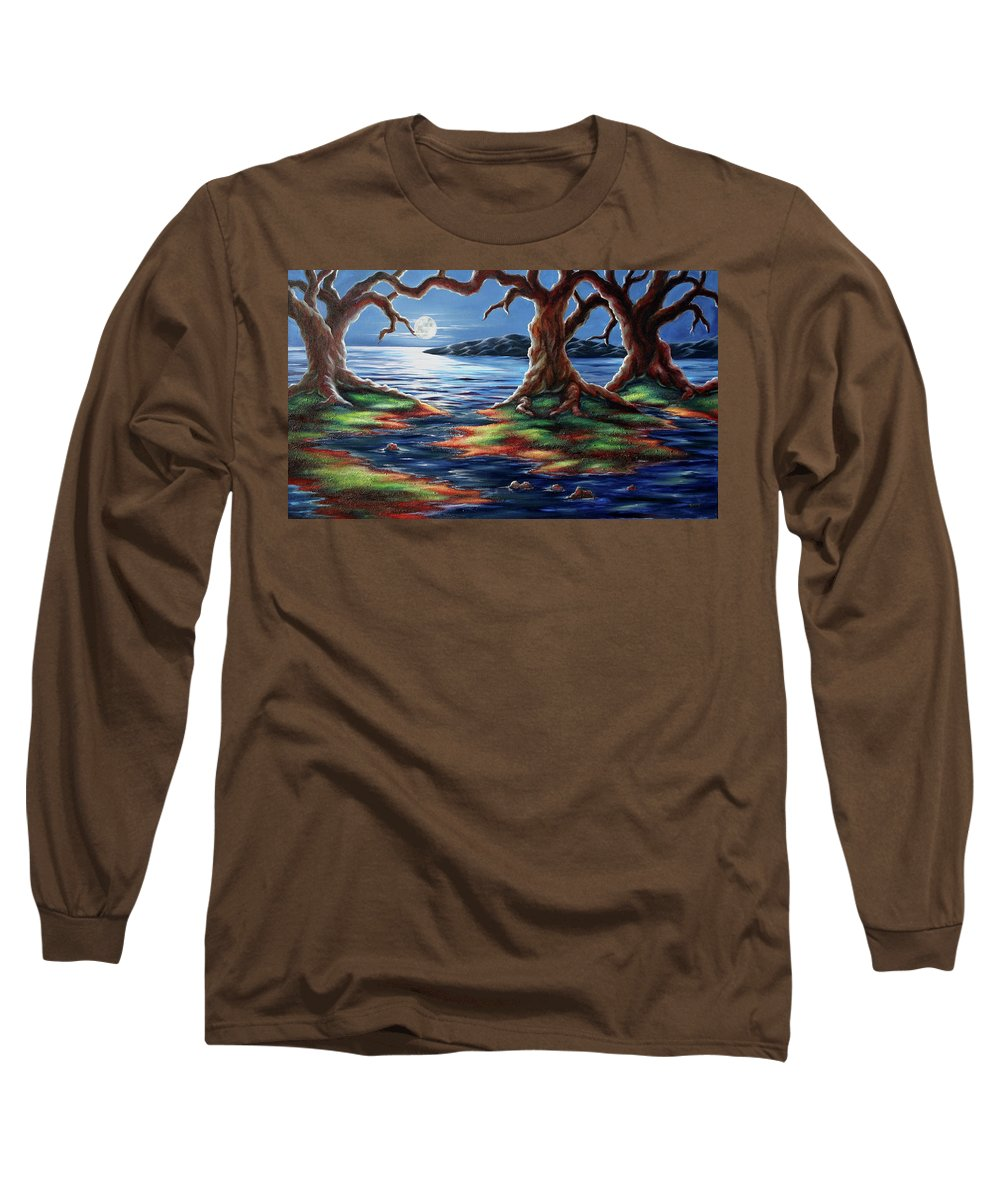 Textured Painting Long Sleeve T-Shirt featuring the painting United Trees by Jennifer McDuffie