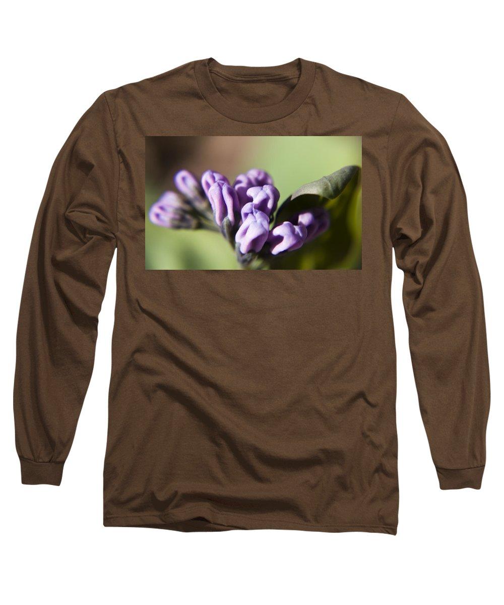 Virginia Long Sleeve T-Shirt featuring the photograph Virginia Bluebell Buds by Teresa Mucha