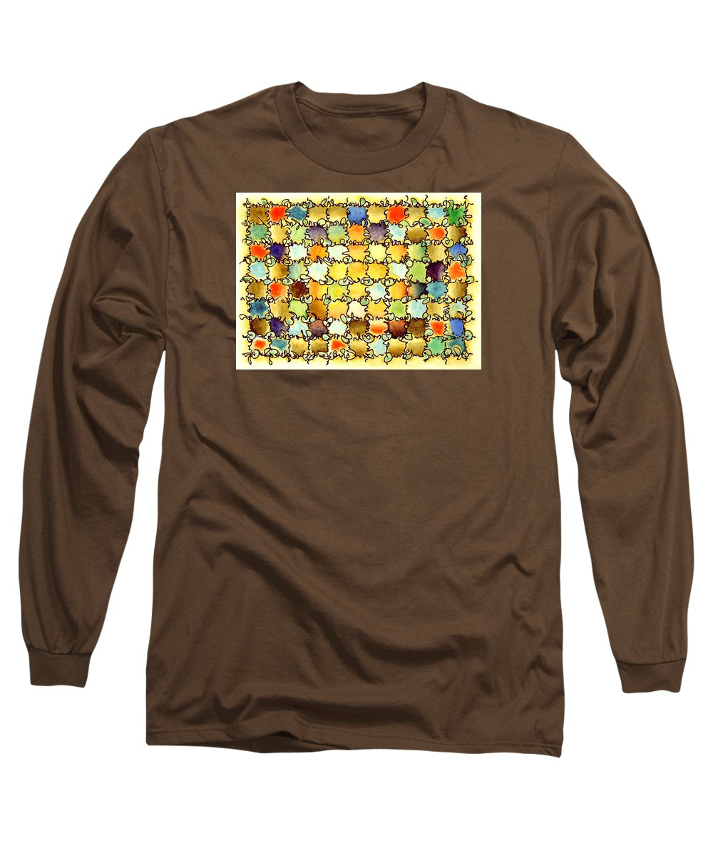 Abstract Long Sleeve T-Shirt featuring the painting Warm Light by Dave Martsolf