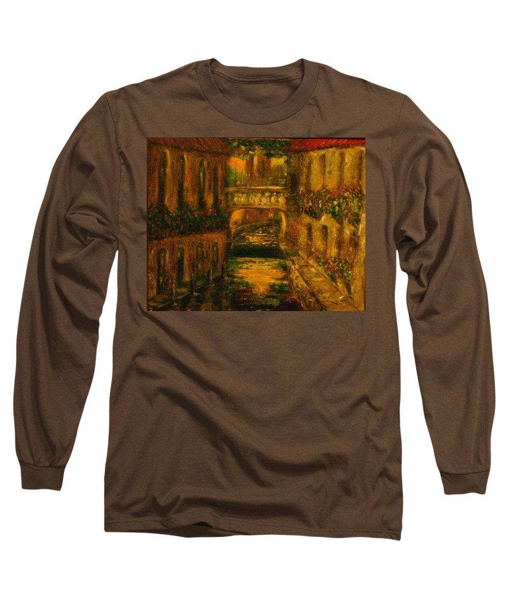 Landscape Long Sleeve T-Shirt featuring the painting Waters Of Europe by Stephen King