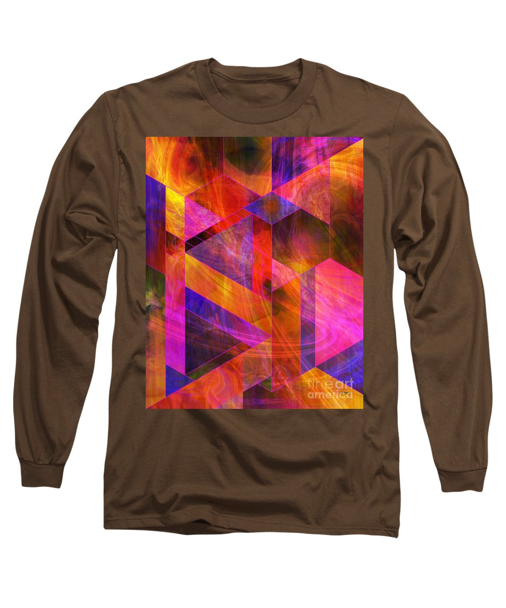 Wild Fire Long Sleeve T-Shirt featuring the digital art Wild Fire by John Beck