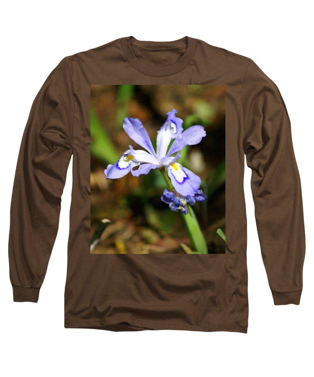 Wild Iris Long Sleeve T-Shirt featuring the photograph Wild Iris by Marty Koch