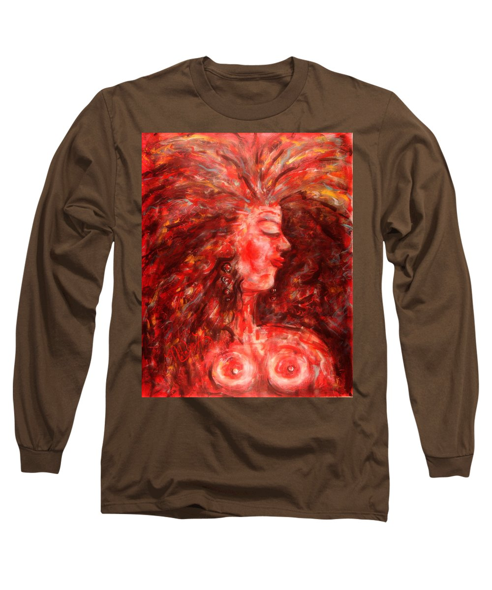 Female Long Sleeve T-Shirt featuring the painting Wild One by Natalie Holland
