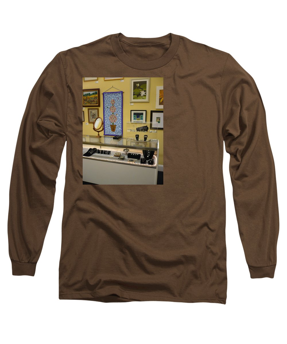 Oil Long Sleeve T-Shirt featuring the painting World-view by Sergey Ignatenko