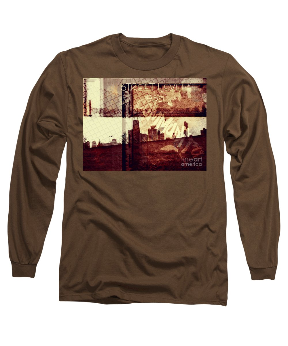 Chicago Long Sleeve T-Shirt featuring the photograph You Held My Hand Softly Through The Humid Summer Streets by Dana DiPasquale