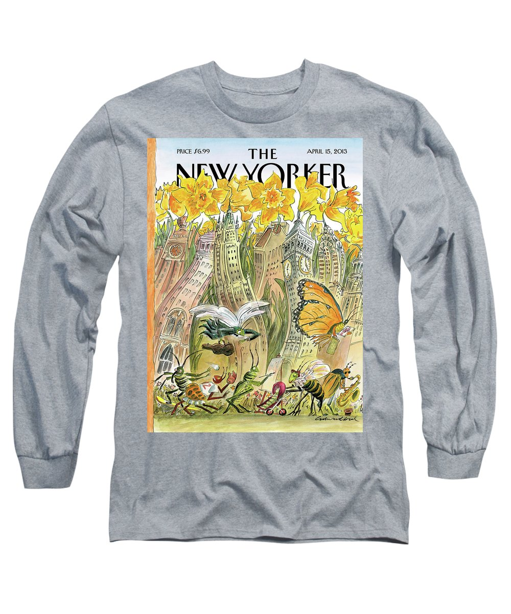 Blossom Long Sleeve T-Shirt featuring the painting Blossom Time by Edward Sorel