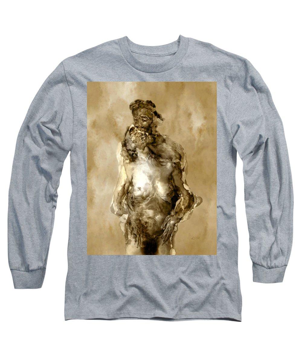 Nude Long Sleeve T-Shirt featuring the photograph Melt by Kurt Van Wagner
