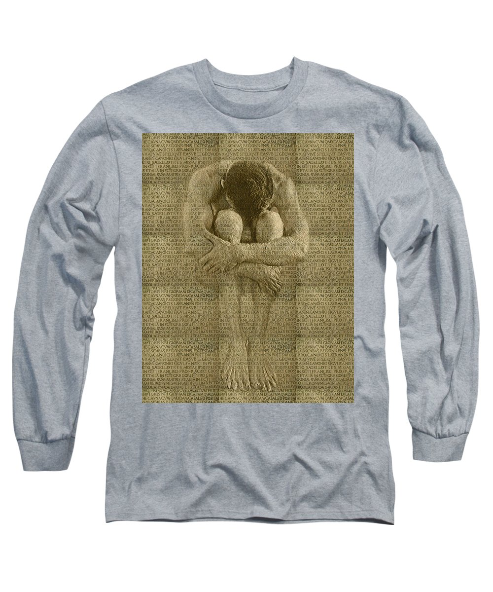 Nudes Long Sleeve T-Shirt featuring the photograph The Artist by Kurt Van Wagner