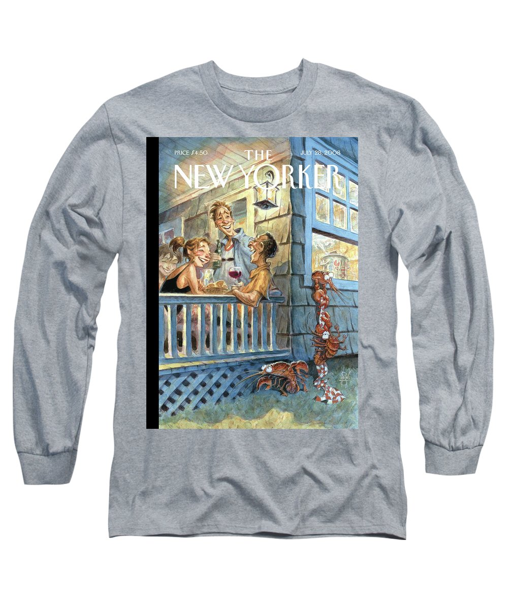 By Peter De Seve Long Sleeve T-Shirt featuring the painting New Yorker July 28th, 2008 by Peter de Seve