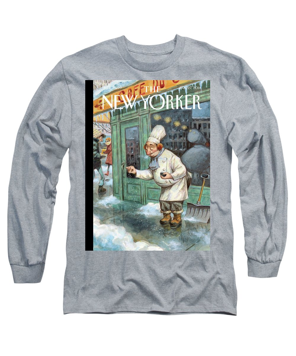 Cooking Long Sleeve T-Shirt featuring the painting Just A Pinch by Peter de Seve