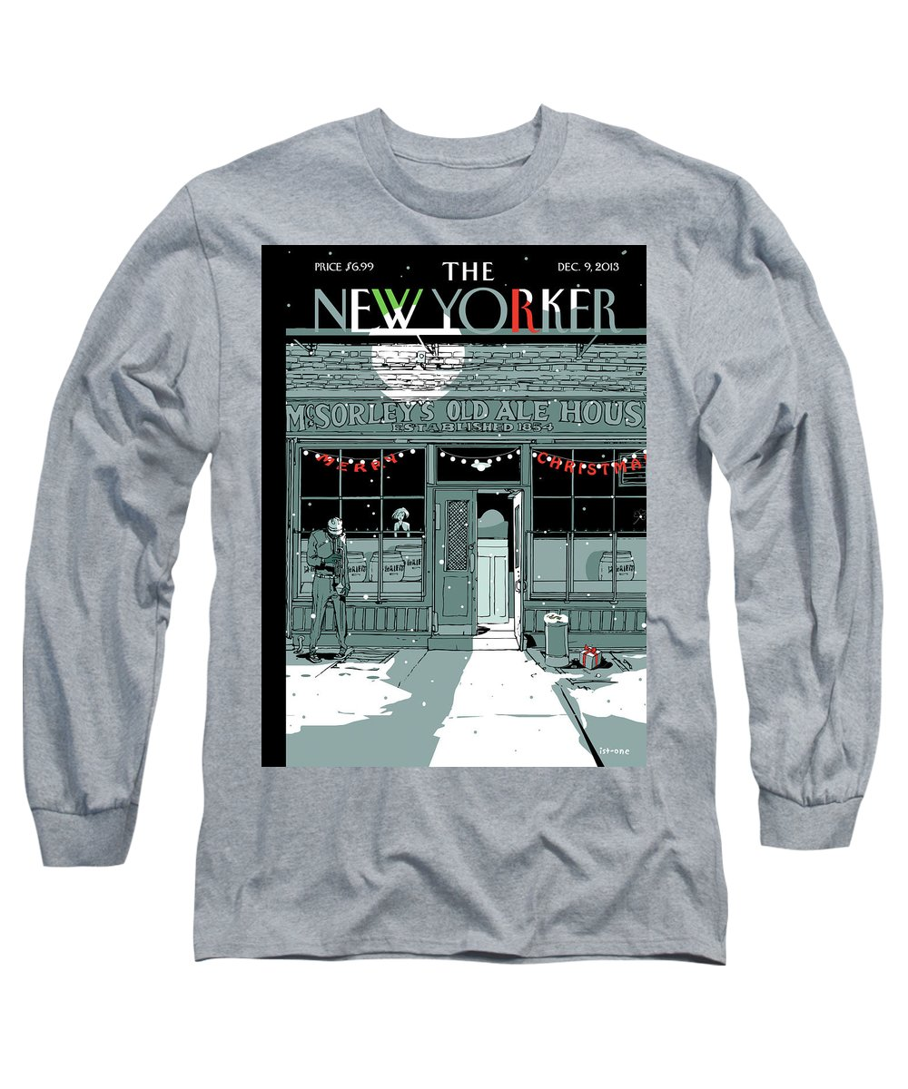 Tis The Season Long Sleeve T-Shirt featuring the painting Tis The Season by Istvan Banyai