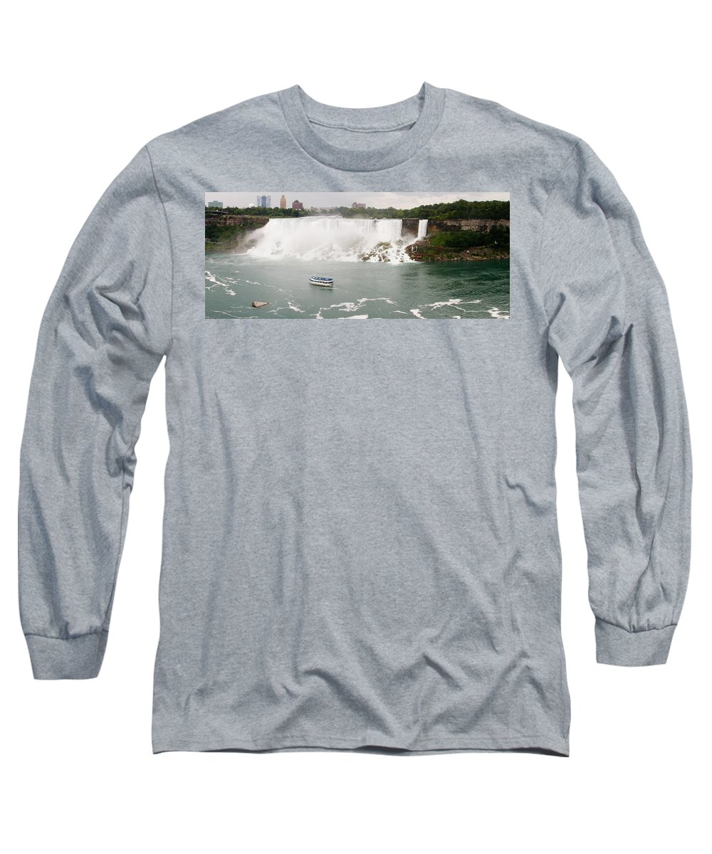 3scape Long Sleeve T-Shirt featuring the photograph American Falls by Adam Romanowicz