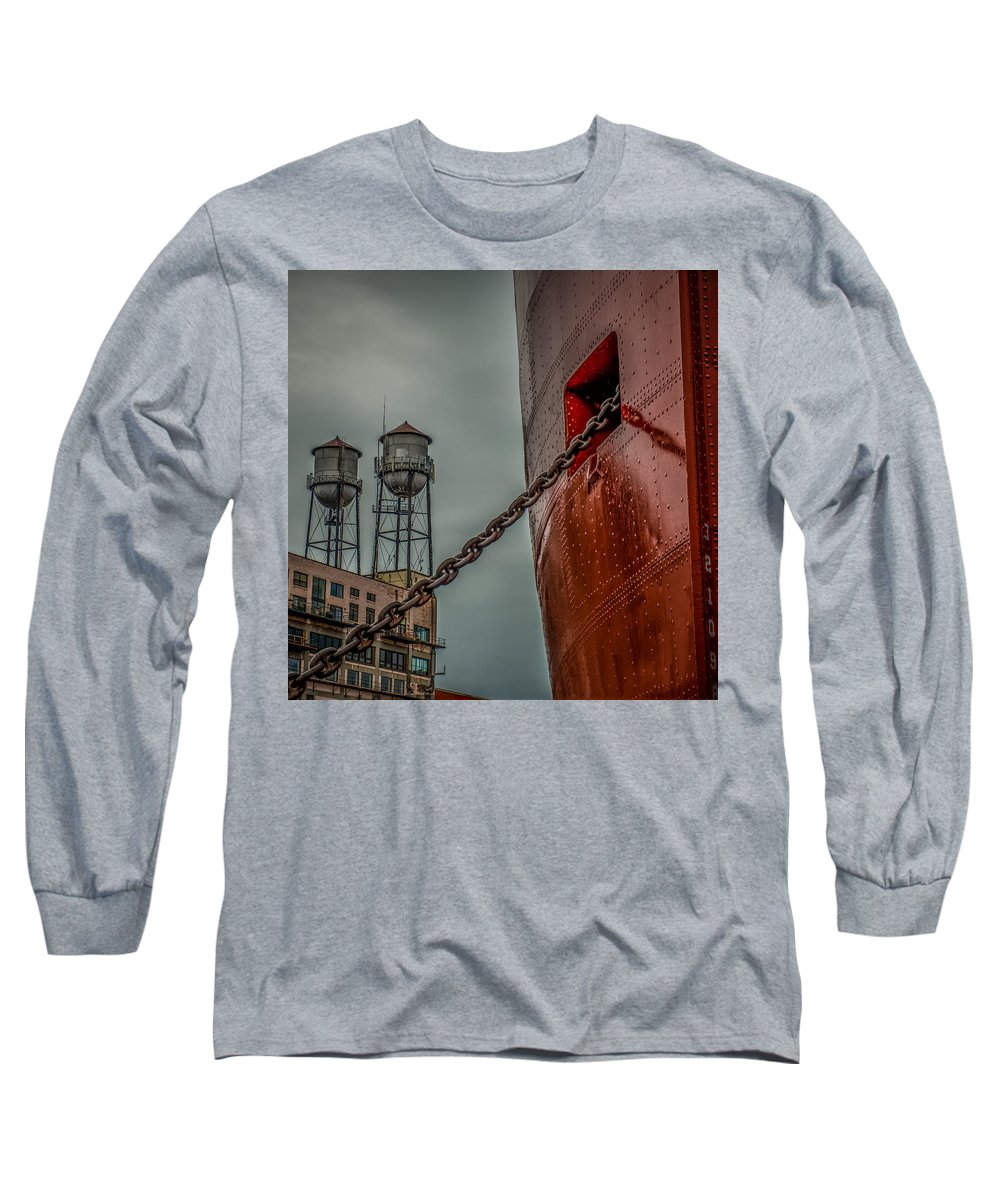 Ss William A Irvin Long Sleeve T-Shirt featuring the photograph Anchor Chain by Paul Freidlund