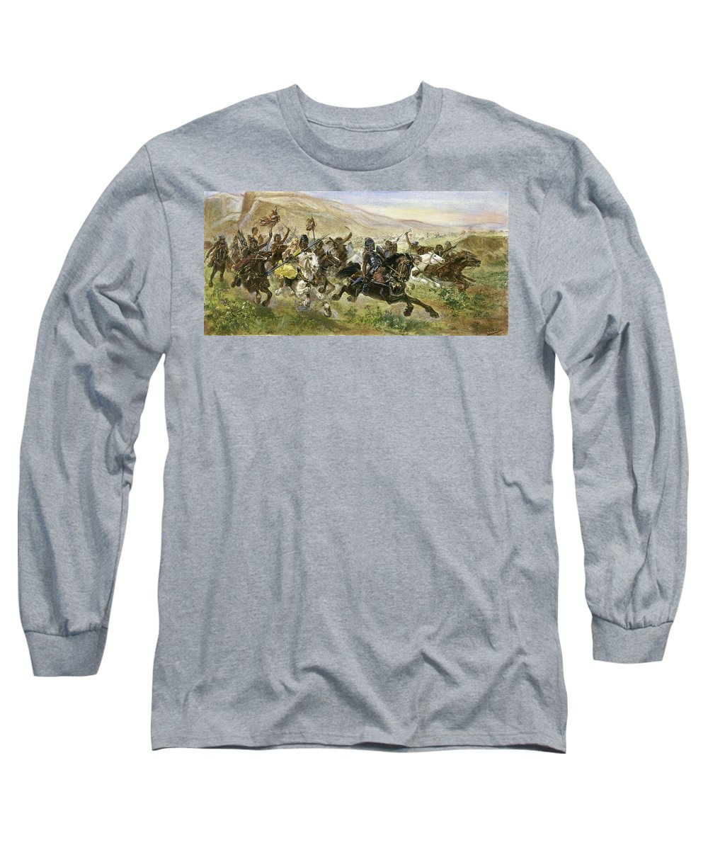 5th Century Long Sleeve T-Shirt featuring the drawing Attila (406?-453) by Granger