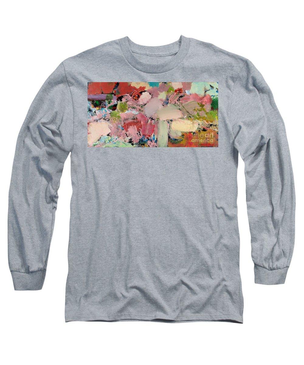 Landscape Long Sleeve T-Shirt featuring the painting Azaleas by Allan P Friedlander