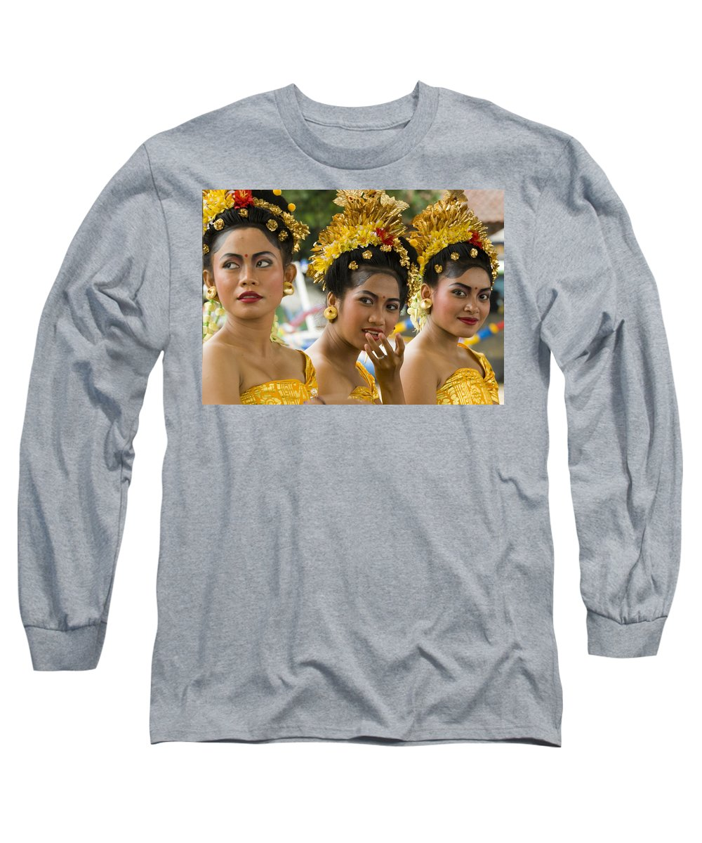 Glamour Long Sleeve T-Shirt featuring the photograph Balinese Dancers by David Smith