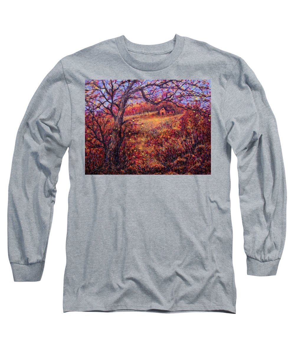 Autumn Long Sleeve T-Shirt featuring the painting Beautiful Autumn by Natalie Holland