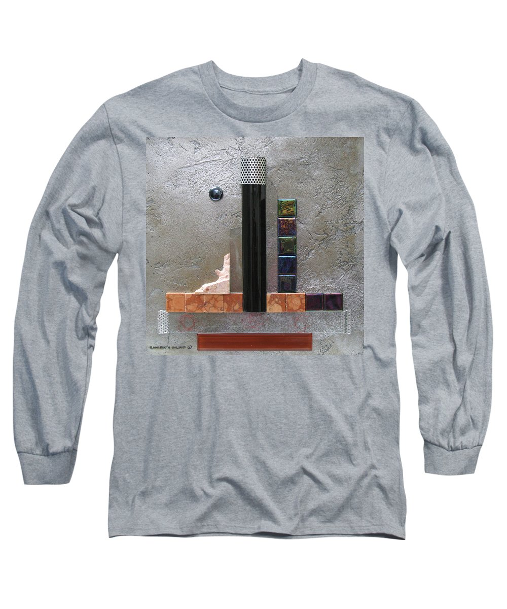 Assemblage Long Sleeve T-Shirt featuring the relief Black Tower by Elaine Booth-Kallweit