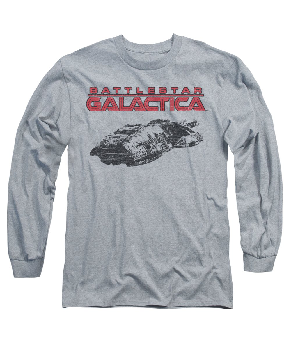Battlestar Long Sleeve T-Shirt featuring the digital art Bsg - Ship Logo by Brand A